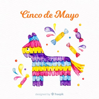Watercolor cinco de mayo background