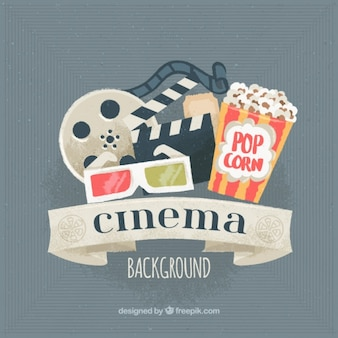 Watercolor cinema background