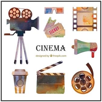 Watercolor cinema material pack