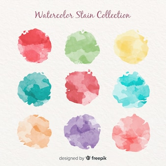 Watercolor circled stain pack