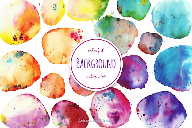 Watercolor circles background