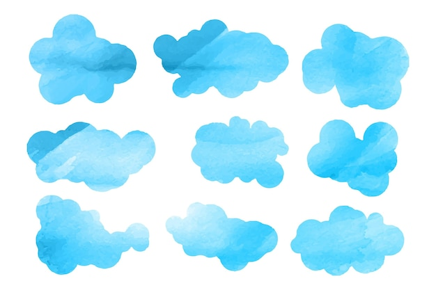Watercolor cloud collection