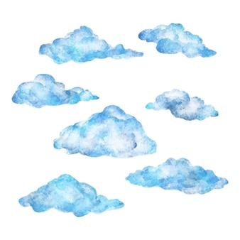 Collezione di nuvole ad acquerello