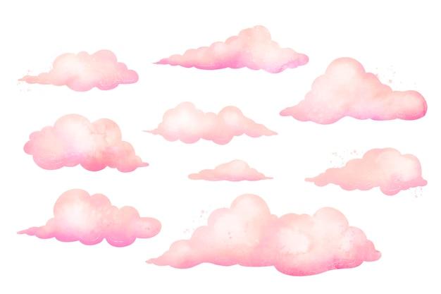 수채화 구름 컬렉션