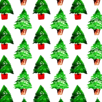 Watercolor colorful christmas pattern background