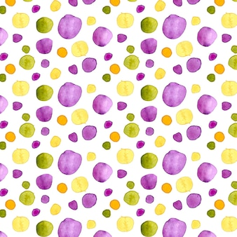 Watercolor colorful dotty pattern