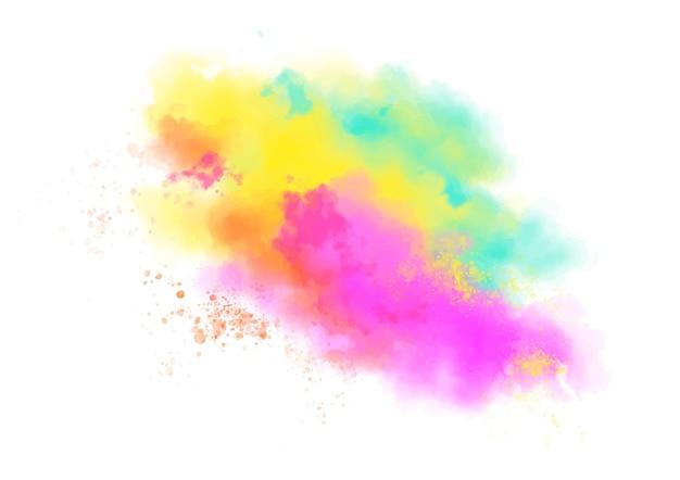 水彩のカラフルなダストクラウド