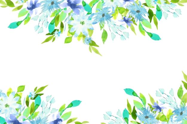 水彩のカラフルな花の背景デザイン