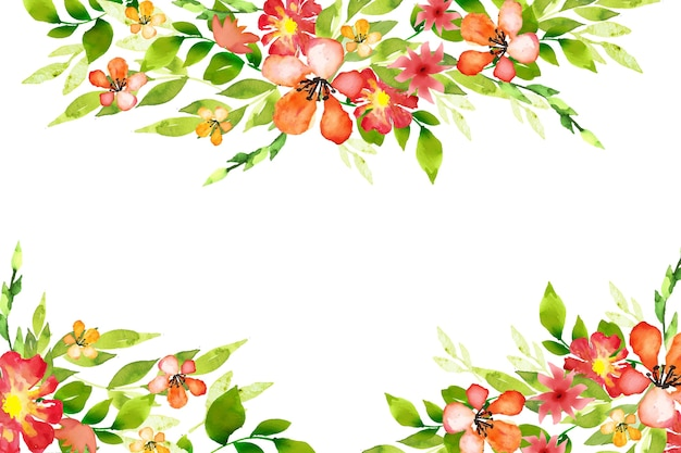 水彩のカラフルな花の壁紙のコンセプト