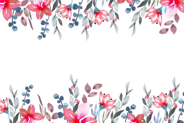 Watercolor colorful floral wallpaper style