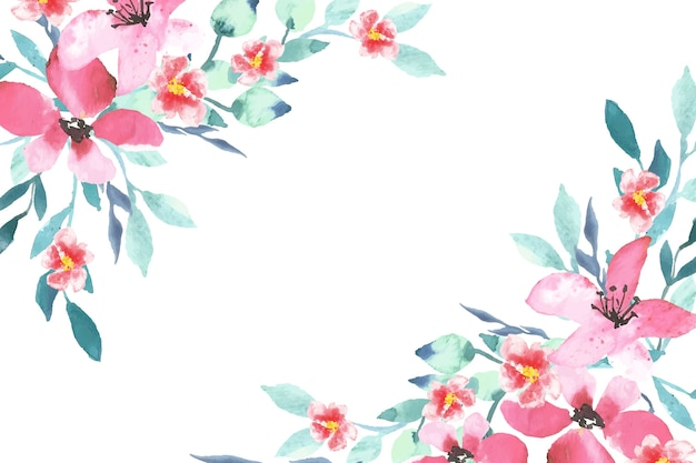 Watercolor colorful floral wallpaper theme