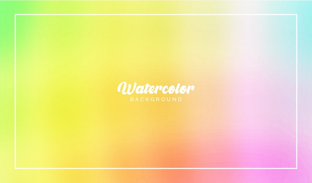 モダンな背景の水彩画のカラフルなフローベクトル要素
