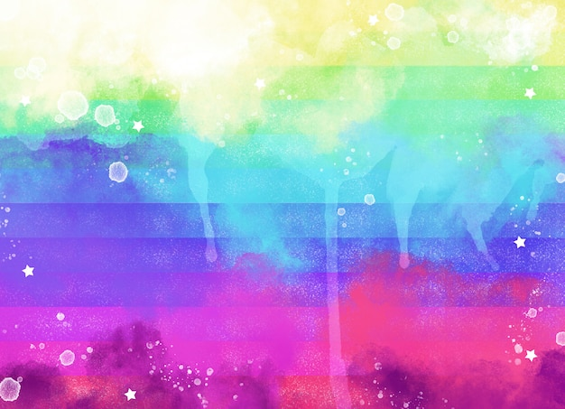 Watercolor colorful rainbow background