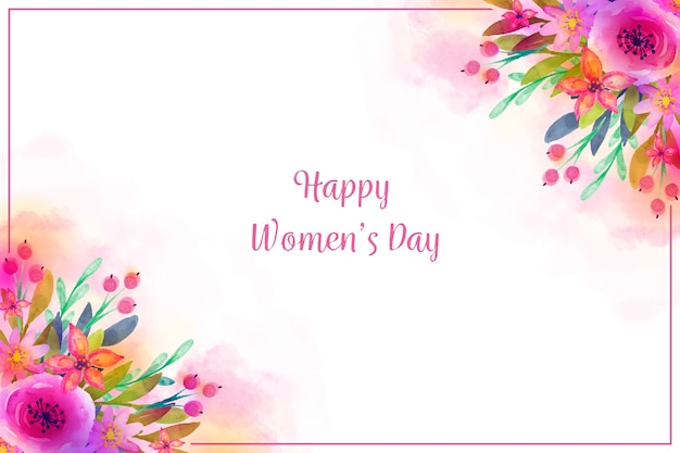Watercolor concept for womens day