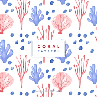 Watercolor coral pattern
