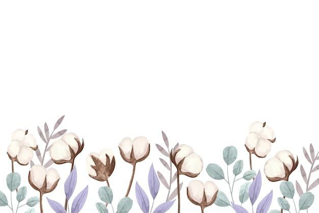水彩綿の背景イラスト