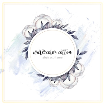 Watercolor cotton frame