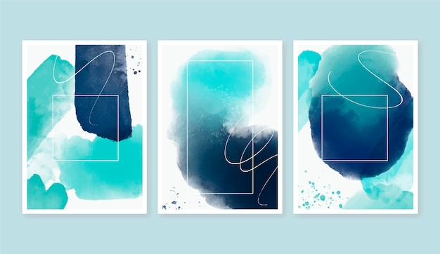 Watercolor cover pack