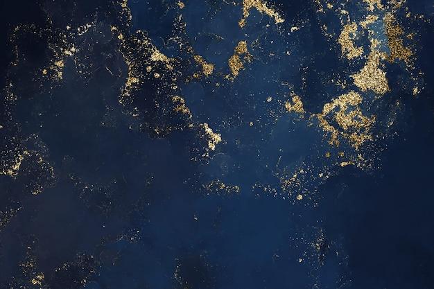 水彩ダークブルーのキラキラ背景