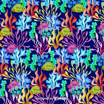Watercolor dark coral background