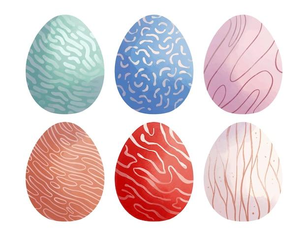 수채화 장식 부활절 달걀 컬렉션