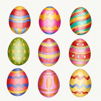 Коллекция акварельных декоративных пасхальных яиц