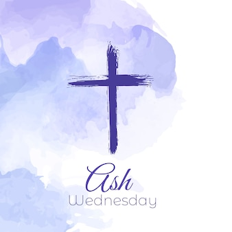 Watercolor design for ash wednesday