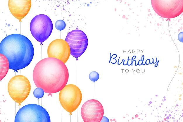 Watercolor design birthday background