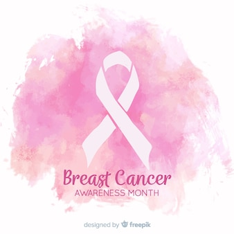 Watercolor design breast cancer awareness
