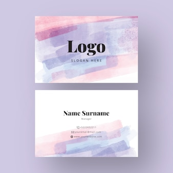 Watercolor design for business card