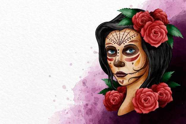 Watercolor design day of the dead event