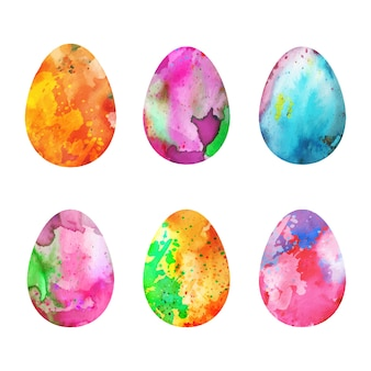 水彩デザインイースターの日卵パック