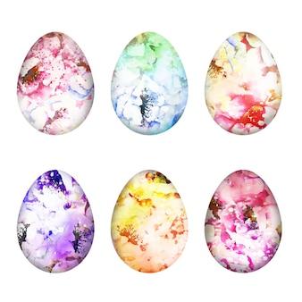 水彩デザインイースターの日卵セット