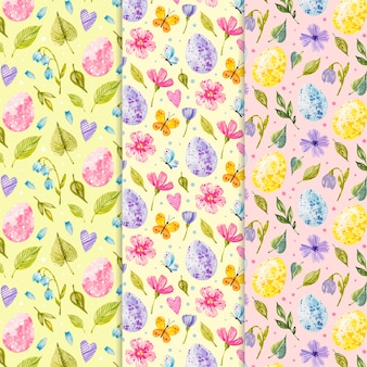 Watercolor design easter day patterns