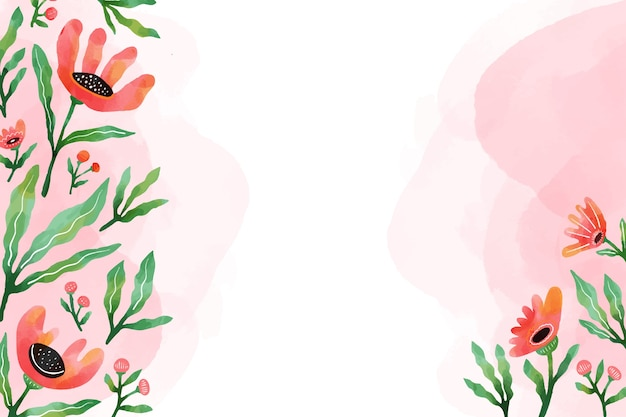 Watercolor design floral background