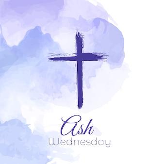 애쉬 수요일에 대한 수채화 디자인