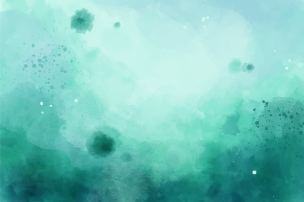 Watercolor design green background