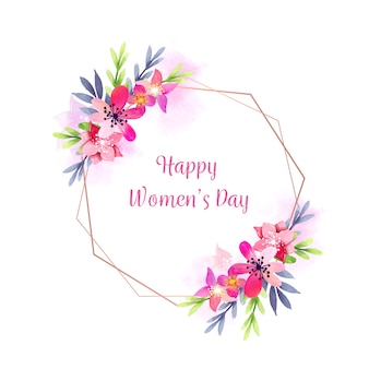 Watercolor design for womens day event