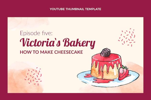 Miniatura di youtube di dolci ad acquerello