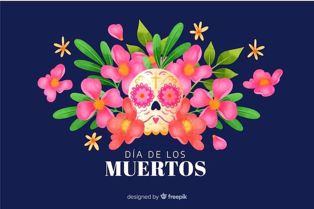 Watercolor día de muertos background