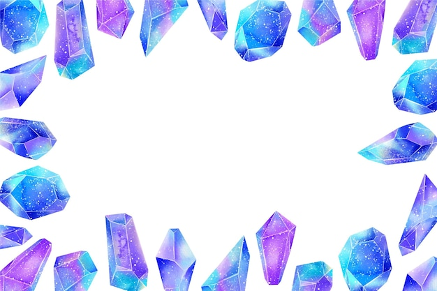 Watercolor diamonds with empty space background