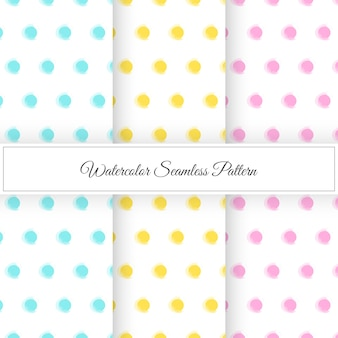Watercolor dot pattern background collection