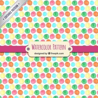 Watercolor dots pattern