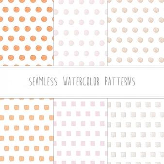 Watercolor dots patterns design