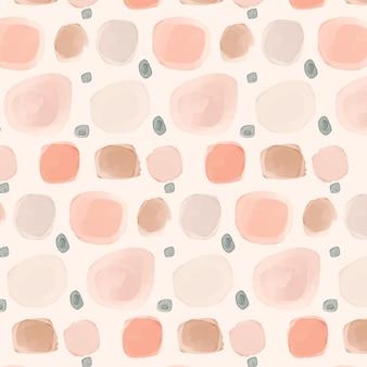 밝은 분홍색 그늘에 수채화 도트 패턴