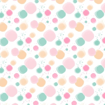 Watercolor dotty pattern in pastel colors