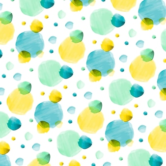 Watercolor dotty pattern
