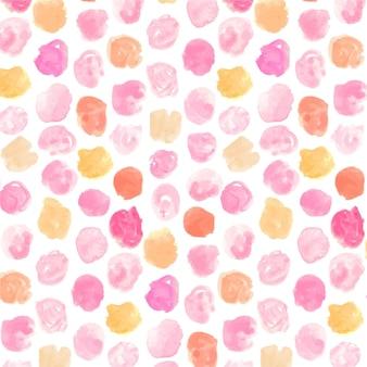 水彩ドッティシームレスパターン