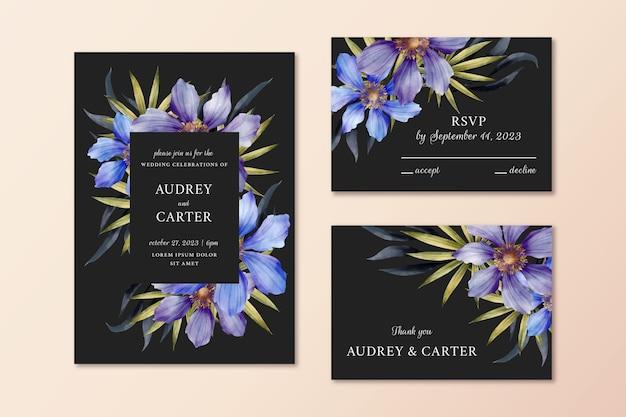 Акварель драматический ботанический свадебный набор канцелярских принадлежностей