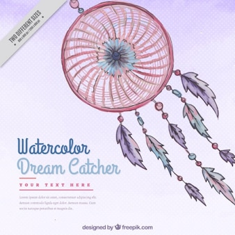 Watercolor dream catcher dots background